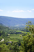 Aerial view, landscape in South Europe under the blue sky — Stock Photo