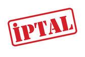 Iptal Turkish Reject stamp over a white background. — Stockvektor
