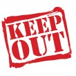 KEEP OUT red rubber stamp vector over a white background. — Stock Vector #53490021