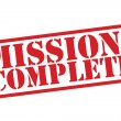 MISSION : COMPLETE Red Rubber Stamp vector over a white background. — Vecteur #53490297