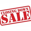 CLOSING DOWN SALE Red Rubber Stamp vector over a white background. — Stock Vector #53491363