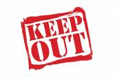 KEEP OUT red rubber stamp vector over a white background. — Stock Vector