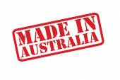 MADE IN AUSTRALIA Rubber Stamp vector over a white background. — Stock Vector