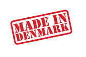 MADE IN DENMARK Rubber Stamp vector over a white background. — Stock Vector