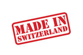 MADE IN SWITZERLAND Rubber Stamp vector over a white background. — Stock Vector