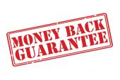 MONEY BACK GUARANTEE red rubber stamp vector over a white background. — Stock Vector
