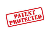 PATENT PROTECTED red rubber stamp vector over a white background. — Stock Vector