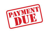 'PAYMENT DUE' Red Stamp vector over a white background. — Stock Vector