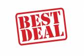 BEST DEAL Red Rubber Stamp vector over a white background. — Stock Vector