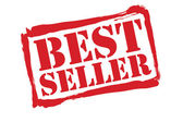 BEST SELLER Red Rubber Stamp vector over a white background. — Wektor stockowy