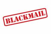 BLACKMAIL Rubber Stamp vector over a white background. — Stock Vector