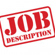 JOB DESCRIPTION red Rubber Stamp vector over a white background. — Stockvector  #53505793