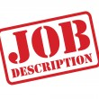 JOB DESCRIPTION red Rubber Stamp vector over a white background. — Vettoriale Stock  #53505793