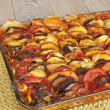 Постер, плакат: Ratatouille in a glass pan