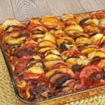 ������, ������: Ratatouille in a glass pan