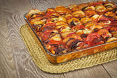 Ratatouille in a glass pan — Stock Photo
