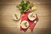 Chicken Porridge turkish cerkez (cerkes) tavugu — Stock Photo