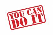 YOU CAN DO IT Rubber Stamp vector over a white background. — Stock Vector