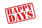 HAPPY DAYS red rubber stamp vector text over a white background. — Stock Vector