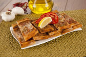 Turkish pide beef and cheese traditional pita — Stock Photo