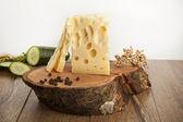 Swiss gruyere cheese — Stock Photo