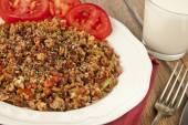 Turkish Kokorec - lamb intestine food portion — Stock Photo