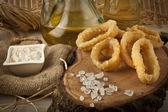 Fried Calamari - Squid — Stock Photo