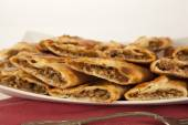 Turkish traditional beef Pide — Stock Photo