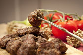 Delicious Turkish Home Made Kofte (meatballs) — Stock Photo