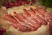 Pastirma, turkish air dried meat — Stock Photo