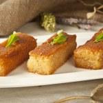 Ramadan Dessert sam tatlisi traditional Turkish sweet — Stock Photo #55656215