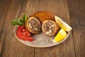Turkish Ramadan Food icli kofte ( meatball ) falafel — Stock Photo