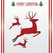 Deer Christmas card — Stock Vector