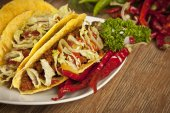 Taco Mexican Cuisine — Stock Photo