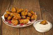Turkish chop Fried mussels - Midye Tava — Foto de Stock