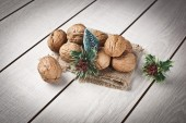 Walnuts with christmas xmas orient products — Photo