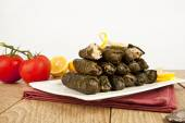 Wrap stuffed with olive oil Ottoman, Turkish and Greek cuisine, the most beautiful appetizer. — Foto Stock