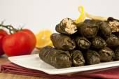 Wrap stuffed with olive oil Ottoman, Turkish and Greek cuisine, the most beautiful appetizer. — Stock Photo