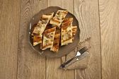 Turkish special pide with mushroom — Stock Photo