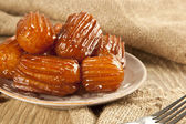 Turkish traditional dessert called Tulumba — Stock Photo