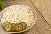 Rice turkish pilav with pickles — Stock Photo