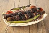 Turkish Kebab eggplant and meatballs — Stockfoto