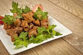 Arnavut Cigeri Turkish Traditional food albanian liver — Stock Photo