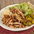 Delicious turkish chicken doner kebab grilled meat — Stock Photo #66973199