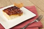 Turkish Traditional Trilece Caramel Dairy Dessert Cake — Stock Photo