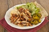 Delicious turkish chicken doner kebab grilled meat — Stock Photo
