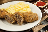 Turkish traditional Food kadinbudu kofte ( meatball ) rice — Stock Photo