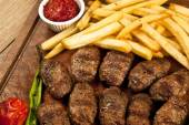 Delicious Turkish Kofte (meatballs) — Stock Photo
