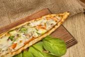 Turkish traditional vegetables Pide — Stock Photo