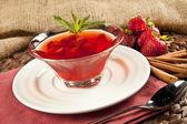 Turkish traditional ottoman ramadan strawberry Sherbet — Stock Photo